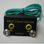 Anti-static grounded outlet