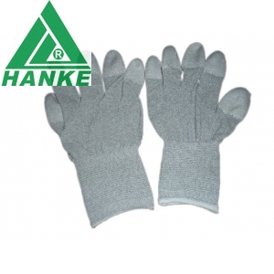 PU coated copper fiber gloves