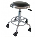 Anti-static leather stool with footrest ring
